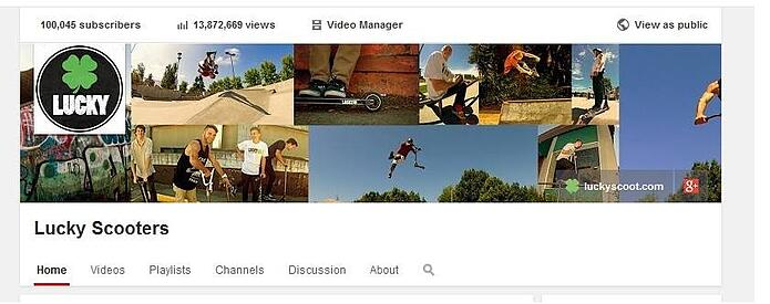 Lucky Scooters- 100k youtube subscribers